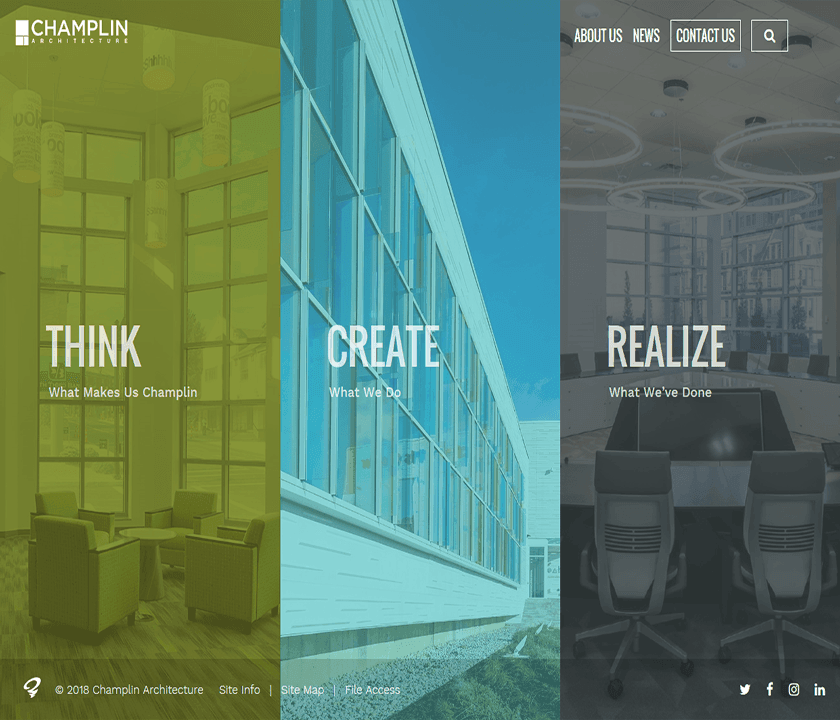 August 15, 2018 - Champlin Architecture's New Website
