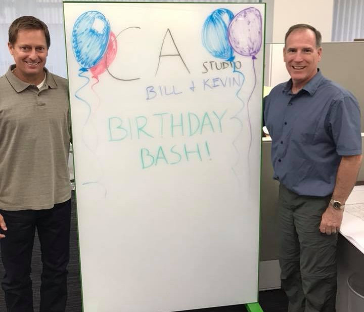 September 14, 2018 - Happy Birthday, Bill and Kevin!