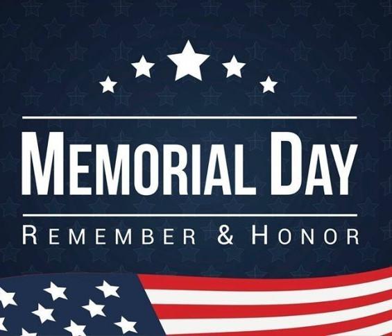 May 27, 2019 - Memorial Day