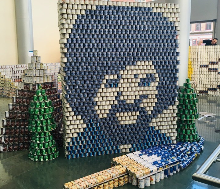 May 13, 2019 - Cincinnati Canstruction Best Use of Labels